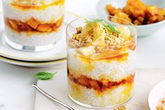 Reminiscent of her favourite childhood dessert, Billie McKay revamps sago pudding with coconut, ginger and caramelised pineapple. Sago Pudding Recipe, Pudding Recipes, Summer Dessert Recipes, Just Desserts, Pineapple Recipes, Pineapple Pudding, Mango Pudding, Pineapple Cake, Low Calorie Desserts