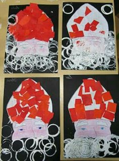 * Stamping beard with toilet roll, miter cut / paste … – Knippen Diy Crafts To Do, Crafts For Kids, Arts And Crafts, Hello December, Theme Noel, Saint Nicholas, My Themes, Preschool Crafts, Christmas Diy