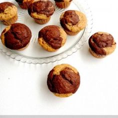 Eggless Marble Muffins