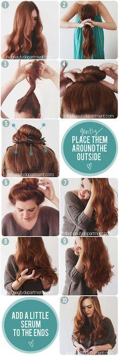 No heat wavy hair .