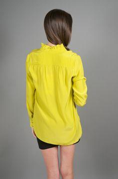 pistachio blouse