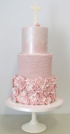 Pretty Parties - Custom Cakes CH-03 Christening / Communion / Confirmation Cake www.prettyparties.net.au