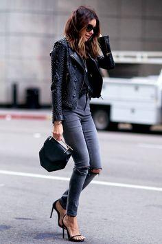 """Nour Hammour """"Saturday"""" jacket , ASOSJeans, Saint LaurentSandals, M2Malletier bag #StreetStyle"""