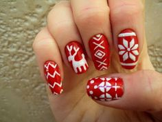 Christmas Nail Art Designs for Girls