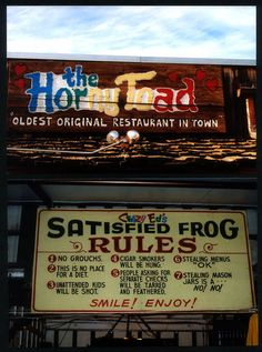 The Horny Toad and Satisfied Frog