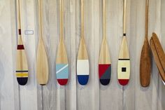 Guideboat Mill Valley Hand Painted Paddles | Remodelista