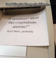 Funny pictures about Marx On Capitalism. Oh, and cool pics about Marx On Capitalism. Also, Marx On Capitalism photos. Jean Valjean, Les Miserables, Aaliyah, Niels Schneider, Flower Yellow, Funny Memes, Jokes, That's Hilarious, This Is Your Life