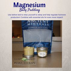 Magnesium Body Pudding- Today's DIY project is something I have been mulling over for a long, long time. Ok - not that long but at least the past two years or so. I am so excited to share this with you.This is a divine bo. Magnesium Bath, How To Regulate Hormones, Are Essential Oils Safe, Diy Lotion, Plant Therapy, Young Living Oils, Homemade Beauty, Body Butter, Pudding