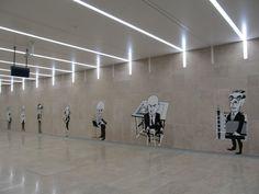 Metrô de Lisboa - a estação do aeroporto tinha sido inaugurada há alguns poucos dias e fomos até lá conhecer.