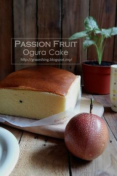 Grace'sis Blog 欣语心情: 百香果相思蛋糕 Passion Fruit Ogura Cake Castella Cake Recipe, Passion Fruit Cake, Ogura Cake, Cotton Cake, Resep Cake, Types Of Cakes, Banana Coconut, Sponge Cake, Cake Creations
