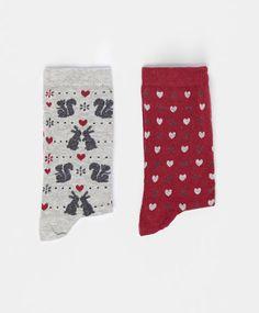 Pack calcetines ardillas corazones - OYSHO