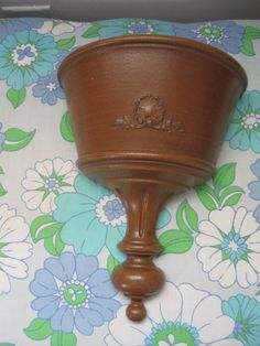 Vintage Decorative Wall Planter Wall Hanging by jonscreations