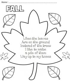 Autumn poems, pretty cute. I wish we had the leaf fall like they do in Canada!!