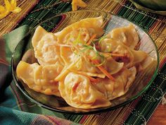 Chicken Pot Stickers-these are great.  I usually make a big batch, freeze on a cookie sheet, then put about 6 in a ziploc to save in the freezer for later!