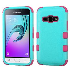 MYBAT TUFF Samsung Galaxy J1 / Amp 2 Case - Teal Green/Pink