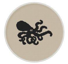 Black octopus cross stitch pattern Instant от MagicCrossStitch