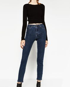 Image 2 of HIGH WAISTED JEGGINGS from Zara