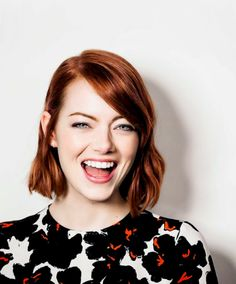 Emma Stone - love this cut and color on her.