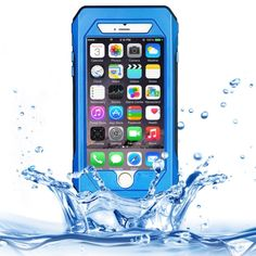 [$12.98] RIYO IP68 Waterproof Shockproof Dustproof Snowproof Protective Case with Holder & Lanyard for iPhone 6 & 6S(Blue)