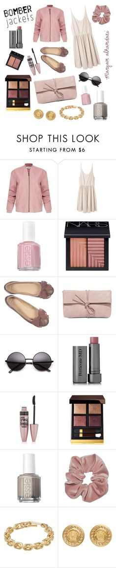 """💜🌸"" by maryam-alhamdani ❤ liked on Polyvore featuring Helmut Lang, Giada Forte, Essie, NARS Cosmetics, LULUS, Perricone MD, Maybelline, Tom Ford, Calvin Klein and Versace"