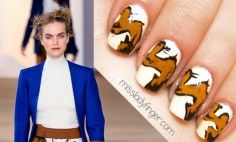 For Fall '12, abstract expressionist art made its way into the Preen collection. The series of looks with the wide brush stroke prints translate perfectly to nail art. Yes, the canvas may be a tid-bit smaller, but the beauty of it all is that we're all artists. Grab your brushes, ladies, and get inspired. To [...]