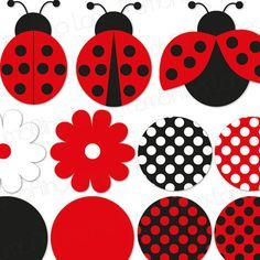 Ladybug Printable Party Banner & Hanging by ThumbAlinaLane on Etsy