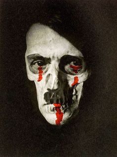 """Erwin Blumenfeld """"Hitler With Bleeding Eyes and Mouth,"""" ca. 1953."""