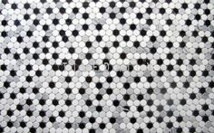 NS0043BW - Marble Penny Round Mosaic, Mix Grey Available @tiledaily. You can create a beautiful floor pattern, floor border, wall border, shampoo niches, etc.. #marble #pennyround #mosaic #penny #tile #wall #floor #interiordesign #blackandwhite #circle
