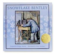 Snowflake Bentley by Jacqueline Briggs Martin, illustrated by Mary Azarian. Includes a video. Snowflake Bentley, 3d Snowflakes, Silhouette Curio, Snow Fun, Vermont, Gifts For Kids, Childrens Books, Holiday, Mary