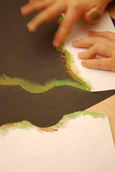 techniques for chalk pastels, Hubble Telescope lesson