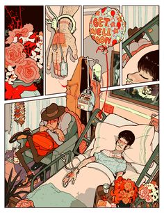 Hospital (single comic page) on Behance