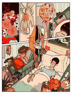 Hospital (single comic page) on Behance