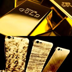 LA MELA LUXURY SKIN IPHONE COVER 18 KT GOLD PLATED  HANDMADE IN ITALY