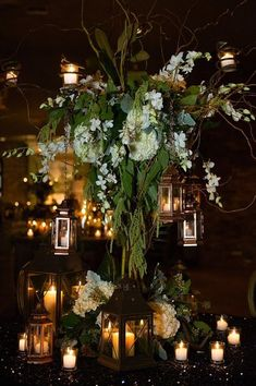 Hanging lantern wedding decor