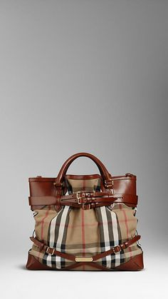 Burberry - Large Bridle House Check Tote Bage - $1495.00