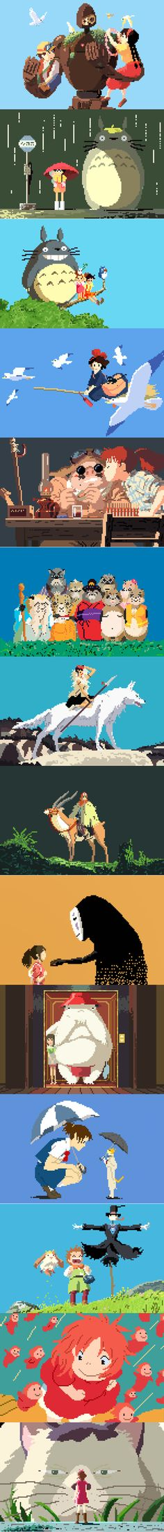 8-bit Ghibli movie art. you know you needed 14 more projects.