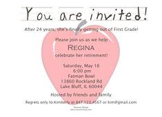 Teacher retirement invitation retirement party pinterest retirement party invitation cute wording stopboris Gallery