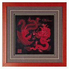 Double dragon mainstream sculpture