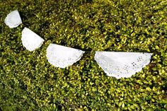 Doily garland ***Picnics and pear trees*** wedding, birthday, vintage, party, christening, baptism, baby shower on Etsy, £4.25