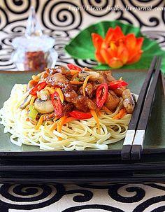 Сhicken Noodles ( Курица с лапшой нудлс) - В гостях у Фиалки!