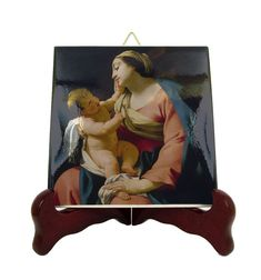 Holy art - Madonna with Child - catholic icon on ceramic tile inspired by Simon Vouet - Our Lady icon - religious art - catholic gifts Catholic Gifts, Religious Gifts, Religious Icons, Religious Art, Teacup Pigs, Infancy, Our Lady, Winter Time, Making Out
