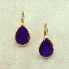 Drops of Sapphire Earrings