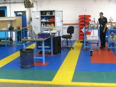 Industrielle Bodenbeläge aus hochwertigen PVC-Fliesen schwimmende Verlegung