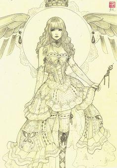 Stunning pencil drawing: Azina by JDarnell http://www.deviantart.com/art/Azina-378510627?utm_content=buffer53692&utm_medium=social&utm_source=pinterest.com&utm_campaign=buffer #artoftheday #sketchbook