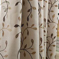 Rod Pocket Grommet Top Tab Top Double Pleat Pencil Pleat One Panel Curtain Country Modern Neoclassical European Designer , Print & Cheap Curtains, Drapes Curtains, Country Curtains, Pencil Pleat, Room Darkening, Rod Pocket, Blackout Curtains, Gold Leaf, Living Room