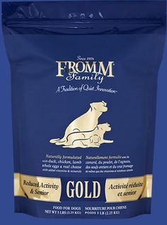 IsaBella: fully hydrated in water, stored in frig. *Fromm - Reduced Activity & Sr.  Gold Dry Dog Food