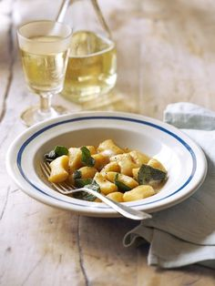 Butter, sage and a squeeze of lemon is all you need to make this simple, flavour-packed gnocchi recipe. You can use shop-bought gnocchi or make your own. Sage Recipes, Gnocchi Recipes, Pasta Recipes, Cooking Recipes, Sicilian Recipes, Delicious Magazine, Brown Butter, Savoury Dishes, Pasta Dishes