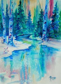 """Mountain Serenity"" - Original Fine Art for Sale - © Martha Kisling"