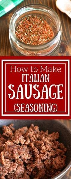 Easy Homemade Italian Sausage Seasoning - simple seasoning blend you can use for ground meat, vegetables, potatoes, and more! (italian sausage recipes whole Italian Sausage Seasoning, Homemade Italian Sausage, Homemade Sausage Recipes, Homemade Spices, Homemade Seasonings, Homemade Italian Seasoning, Homemade Sushi, Do It Yourself Food, Seasoning Mixes