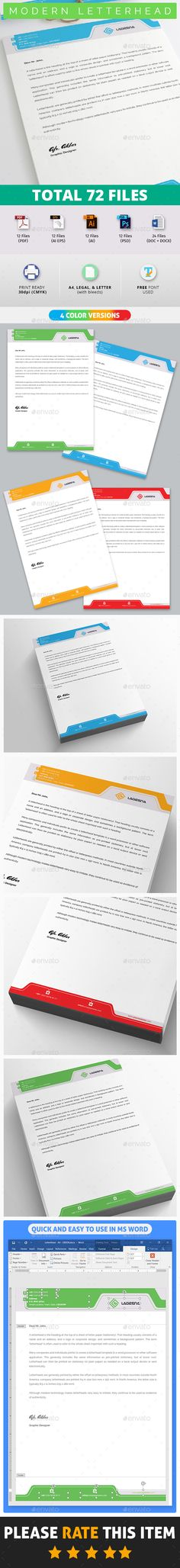 Letterhead Design Template for Fast Food   Restaurants   Cafe - letterhead samples word